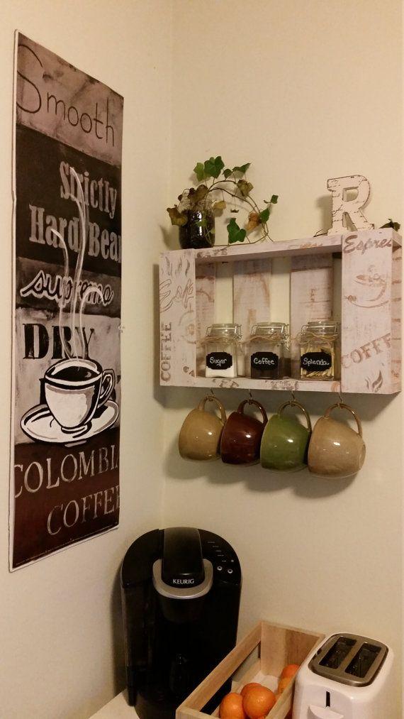 Coffee Mug Wall Hanging Rack