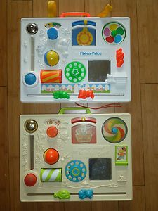 Vintage 1973 1988 Fisher Price Busy Activity Center Toy Crib Lot