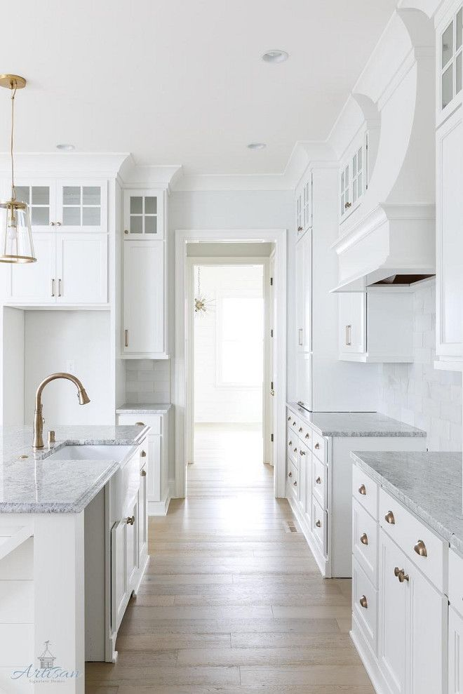 Open Kitchen Design That Could Work In Our House Cabinets Painted Benjamin Moore Oc 64 Pure White 2 Liance Garage Shiplap Paneling Under