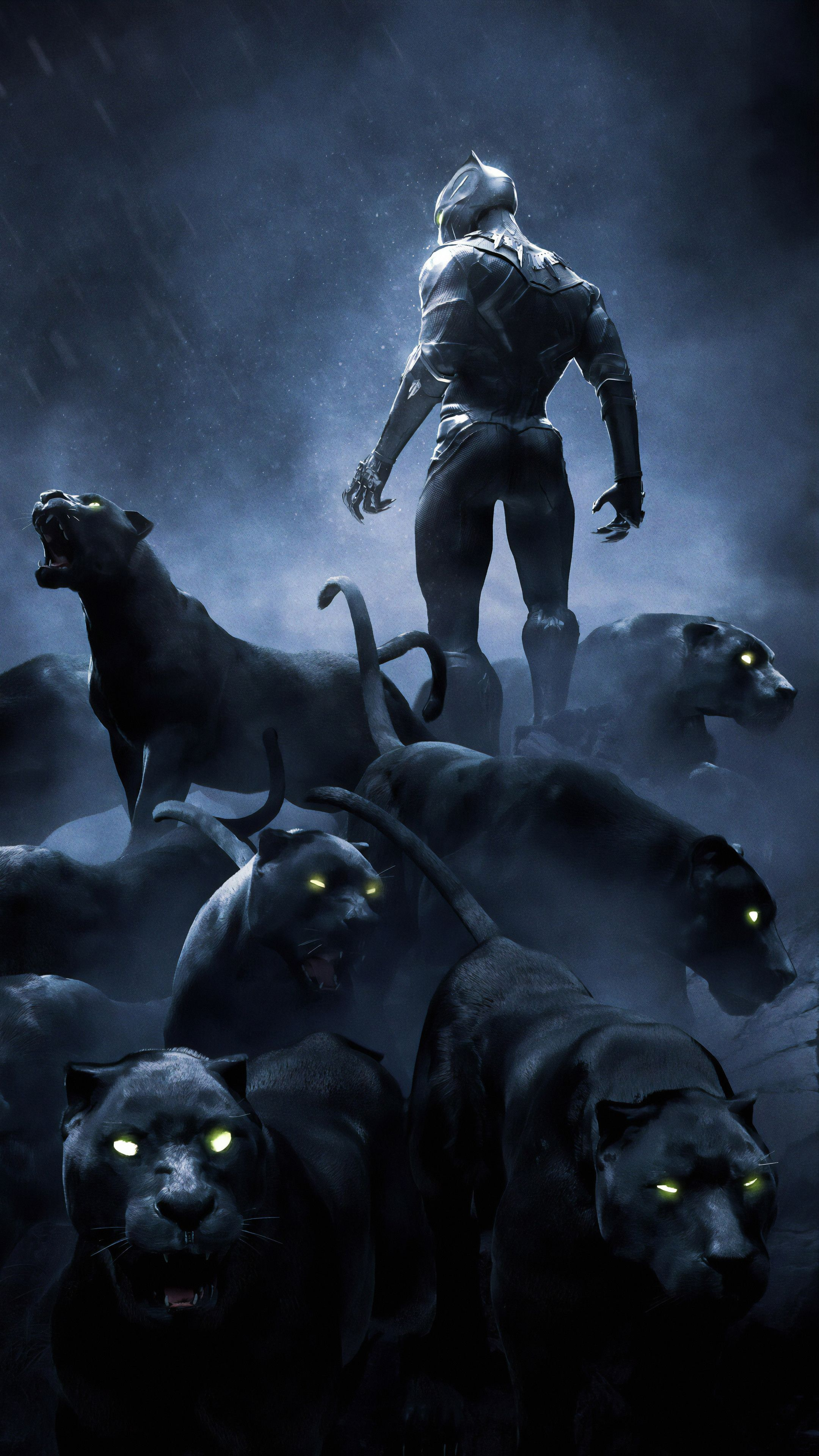 Black Panther Rise Up 4k In 2160x3840 Resolution In 2020 Black Panther Art Panther Art Marvel Superhero Posters