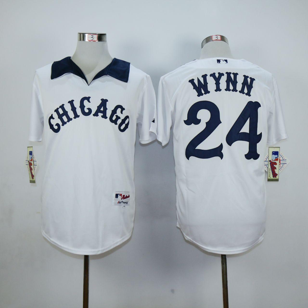 MLB Chicago White Sox 24 Wynn White Jersey,cheap mlb jerseys,cheap ...