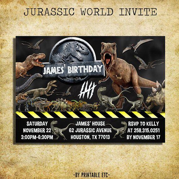 jurassic world birthday invitation