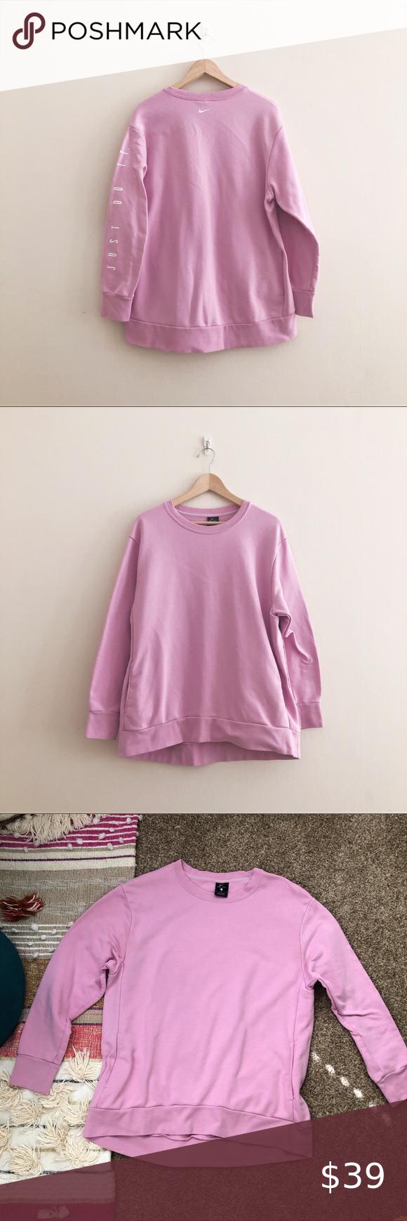 Nike Dri Fit Just Do It Crewneck Sweatshirt Pink Crew Neck Sweatshirt Pink Sweatshirt Long Sweatshirt [ 1740 x 580 Pixel ]