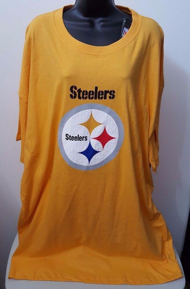 NFL Team Apparel NWT Men s Big   Tall Pittsburgh Steelers T-Shirt Size 4X   NFLTeamApparel  PittsburghSteelers 2a0f19ce2