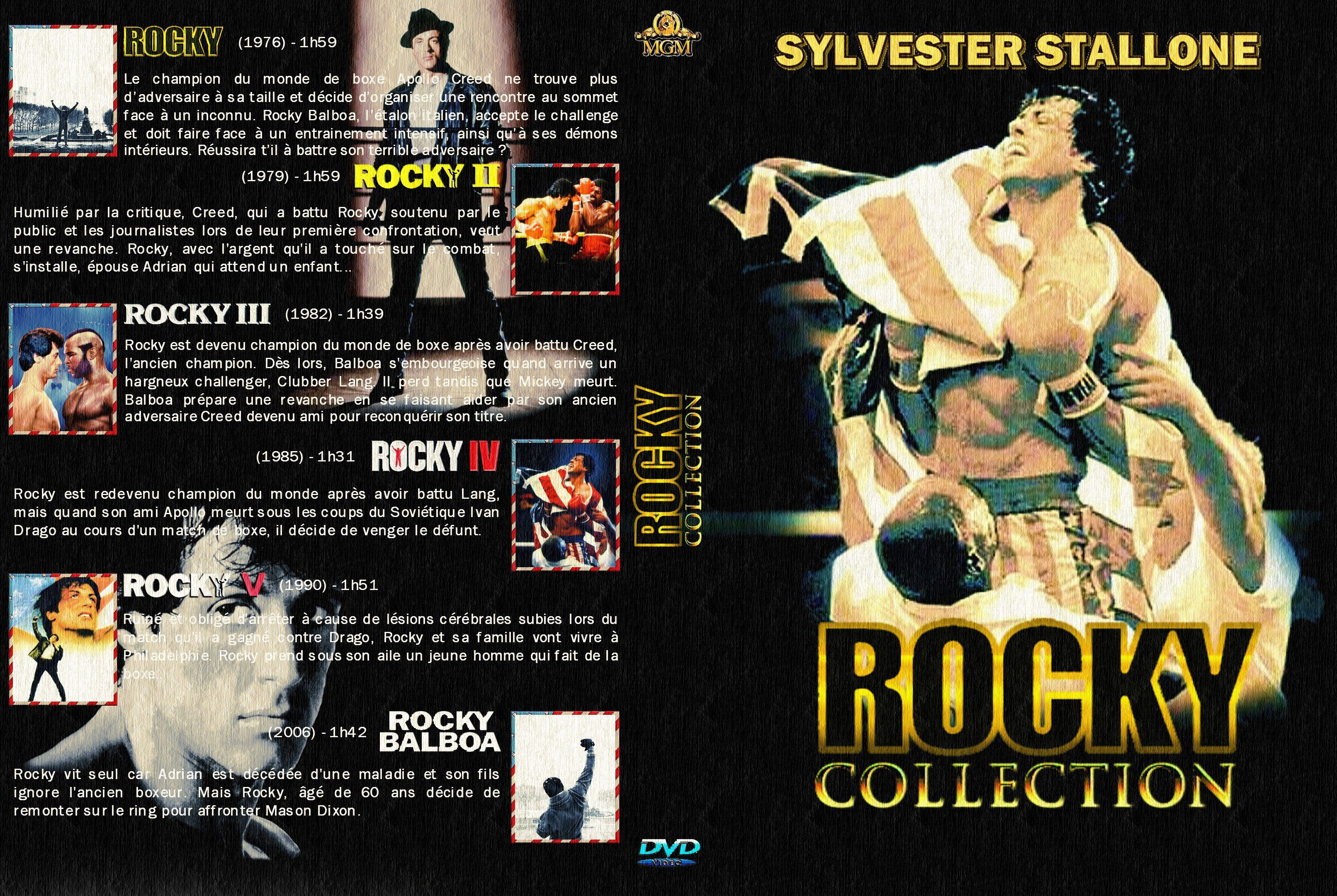 Rocky Collection Jaquette Dvd Les Critiques Jaquette