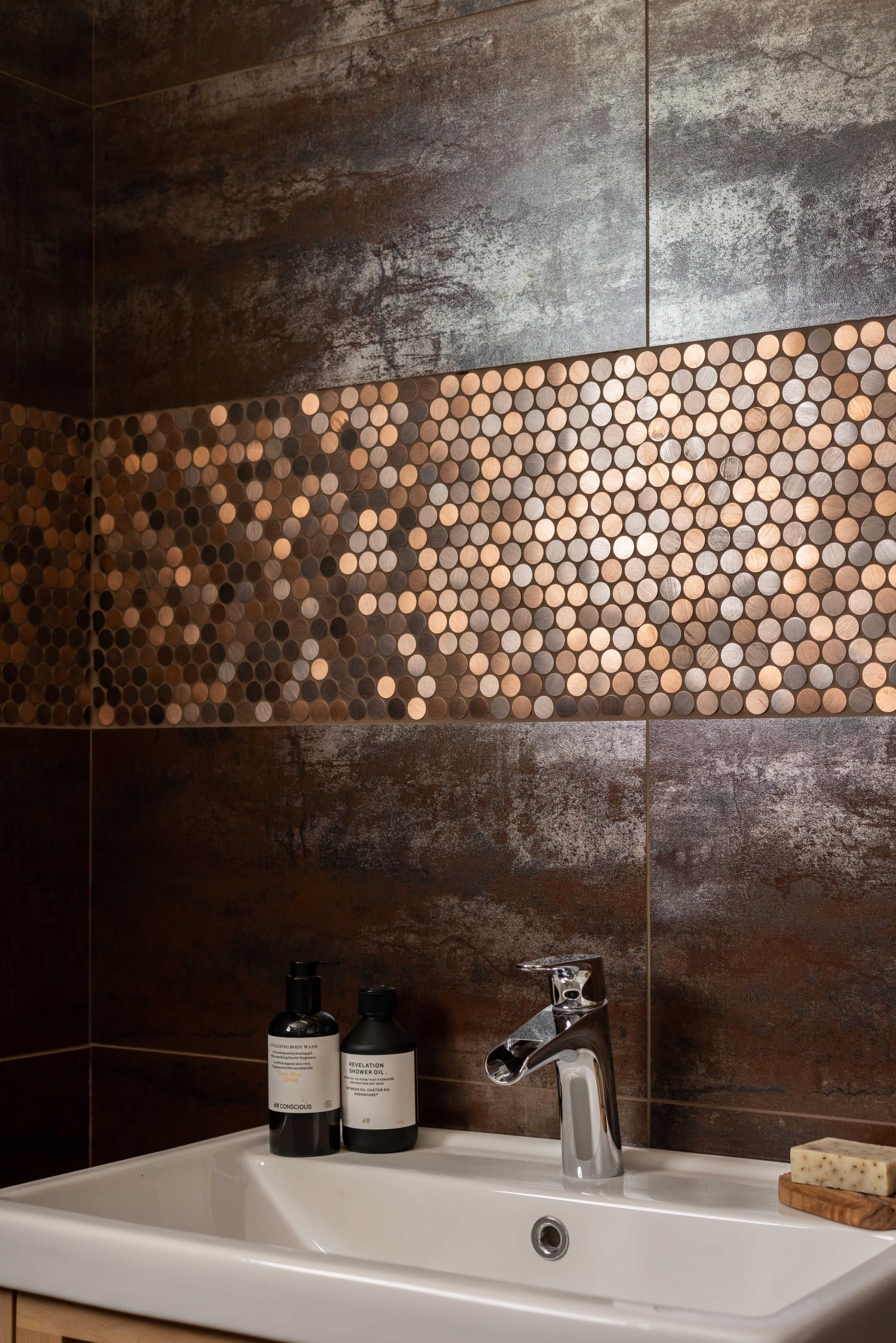 copper bathroom tiles