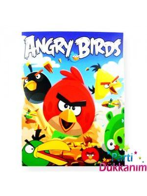 Angry Birds Boyama Kitabı Stickerlı 16 Sayfa Pepee Parti