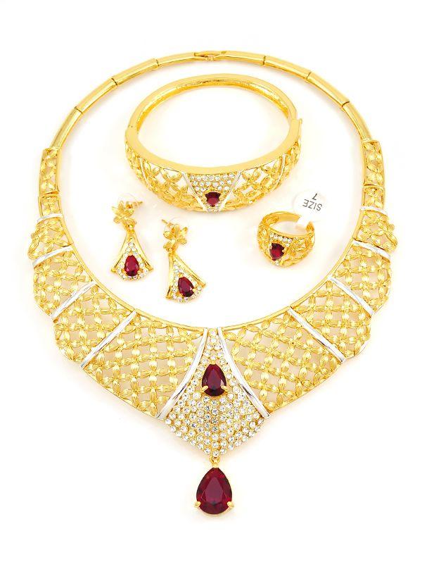 line Wholesale Fashion Jewelry CZ Jewelry Gold Plated Jewelry