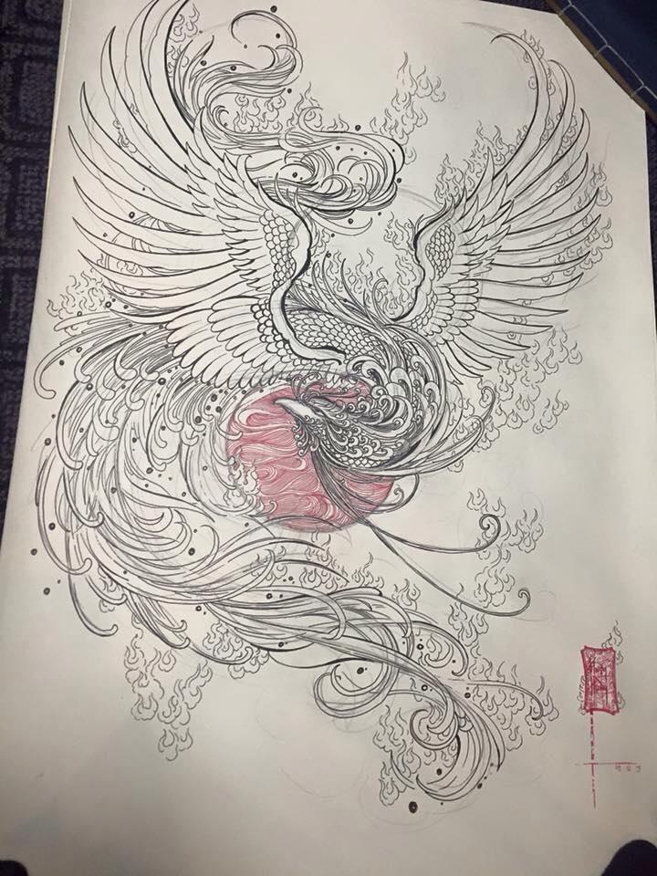 r sultat de recherche d 39 images pour tatouage phoenix. Black Bedroom Furniture Sets. Home Design Ideas