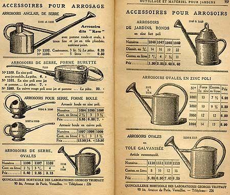 Ancien catalogue outils pour jardin jardinage for Outillage a main jardinage