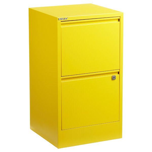 Bisley Yellow 2 3 Drawer Locking Filing Cabinets Filing Cabinet Custom Desk Drawers