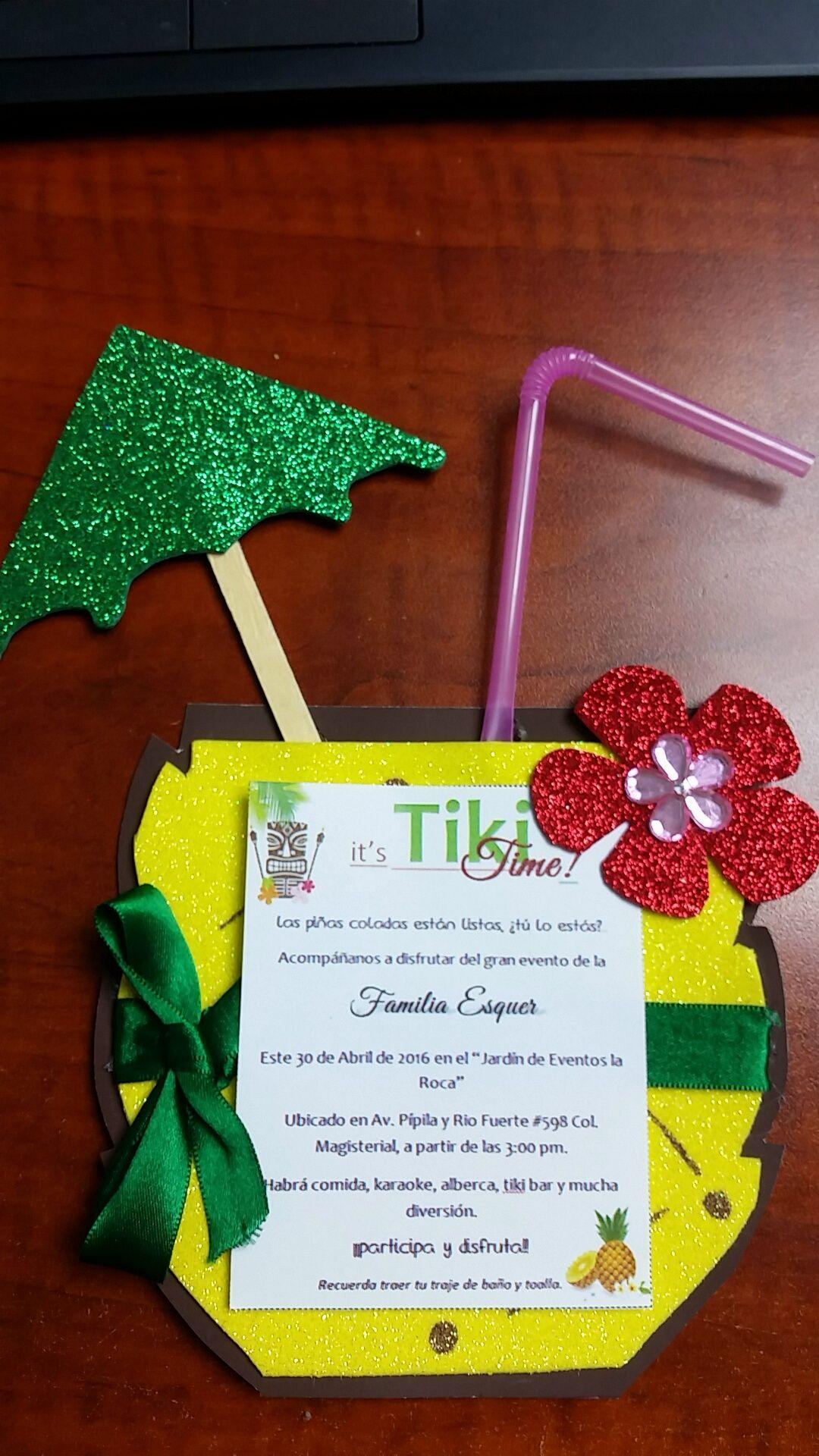 Invitación Para Fiesta Hawaiana Invitation For A Luau Party Invitaciones Hawaianas Invitaciones De Fiesta Invitaciones De Moana