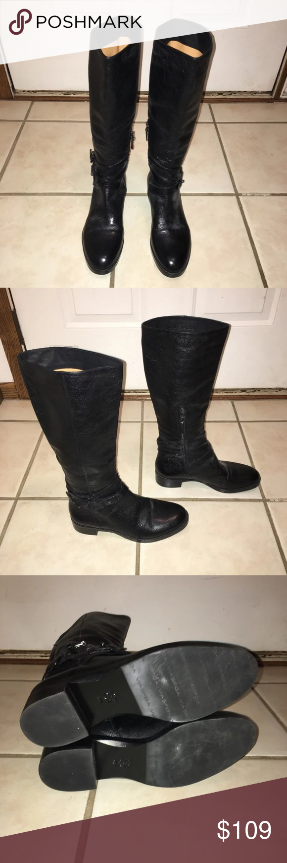 145078b83b5 Via Spiga Belted Women's Riding Boots 9 Up for sale is a pair of ...