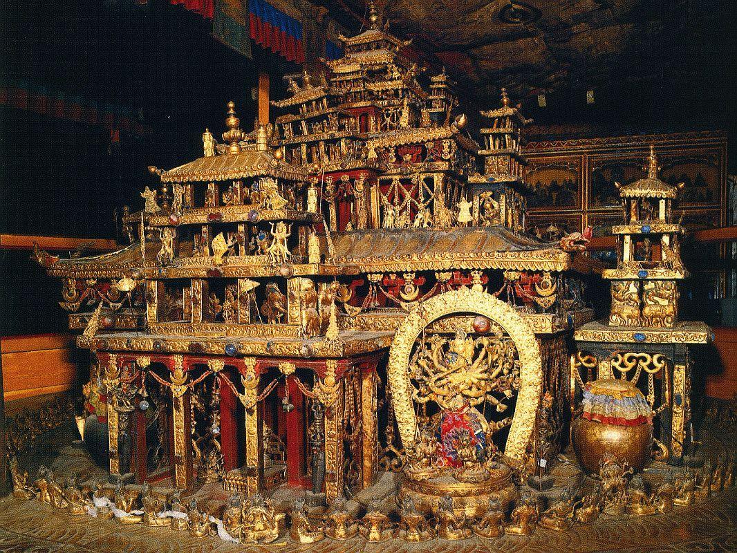 Tibet Lhasa 04 07 Potala Kalachakra 3-D Mandala