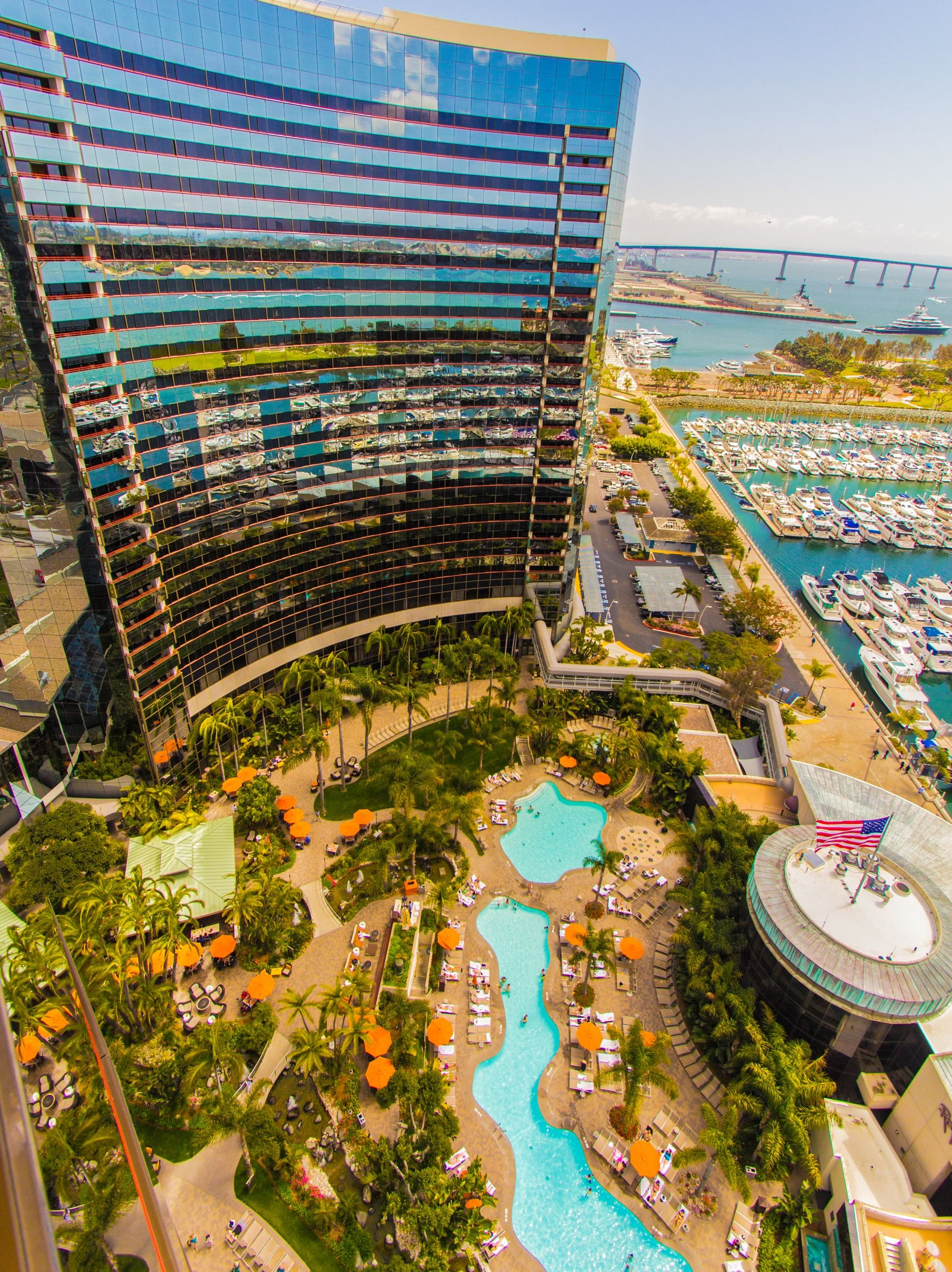 stunning view from the marriott marquis in san diego this. Black Bedroom Furniture Sets. Home Design Ideas