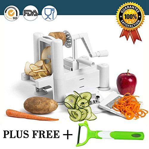 MKSI 3Blade Vegetable SpiralizerPerfect For Making Spiral Slices Zucchini Spaghetti Pasta Maker >>> Click image to review more details.