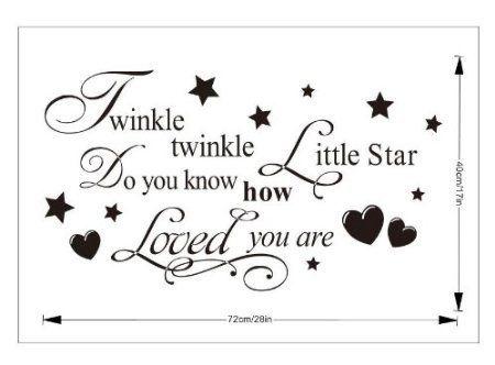 twinkle twinkle little star wall sticker uk products pinterest