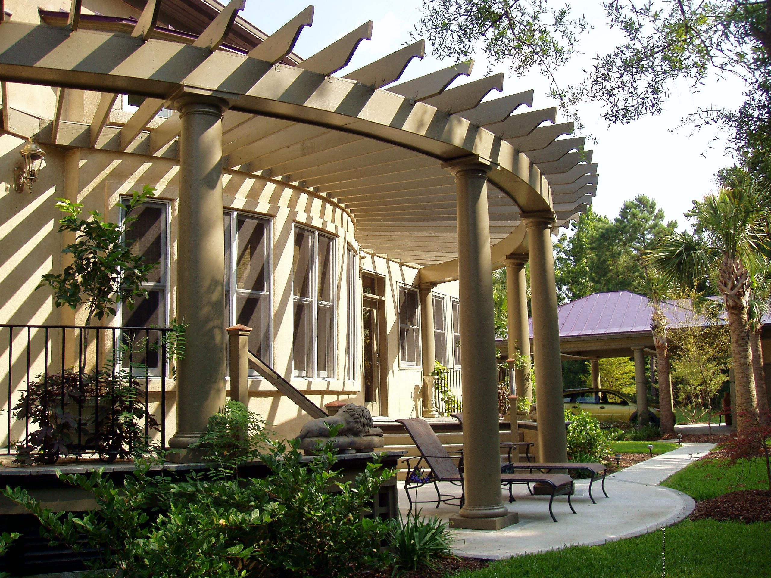 Cost to build pergola - Curved Pergola