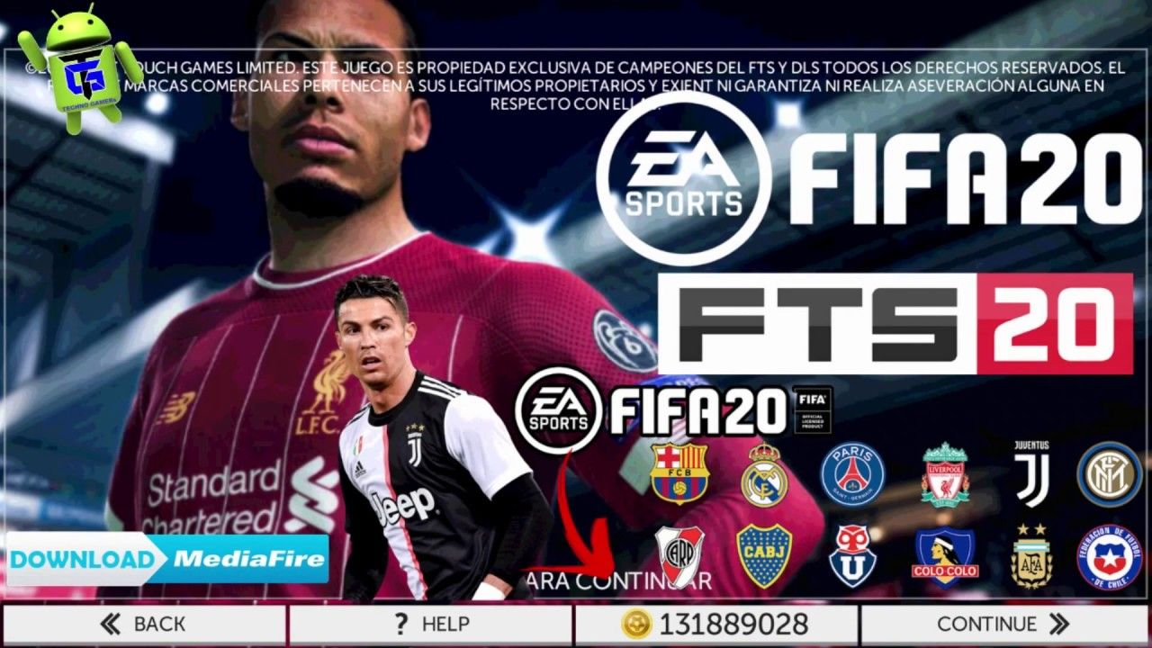 FTS 2020 mod FIFA 20 Offline APK Update Transfer Download
