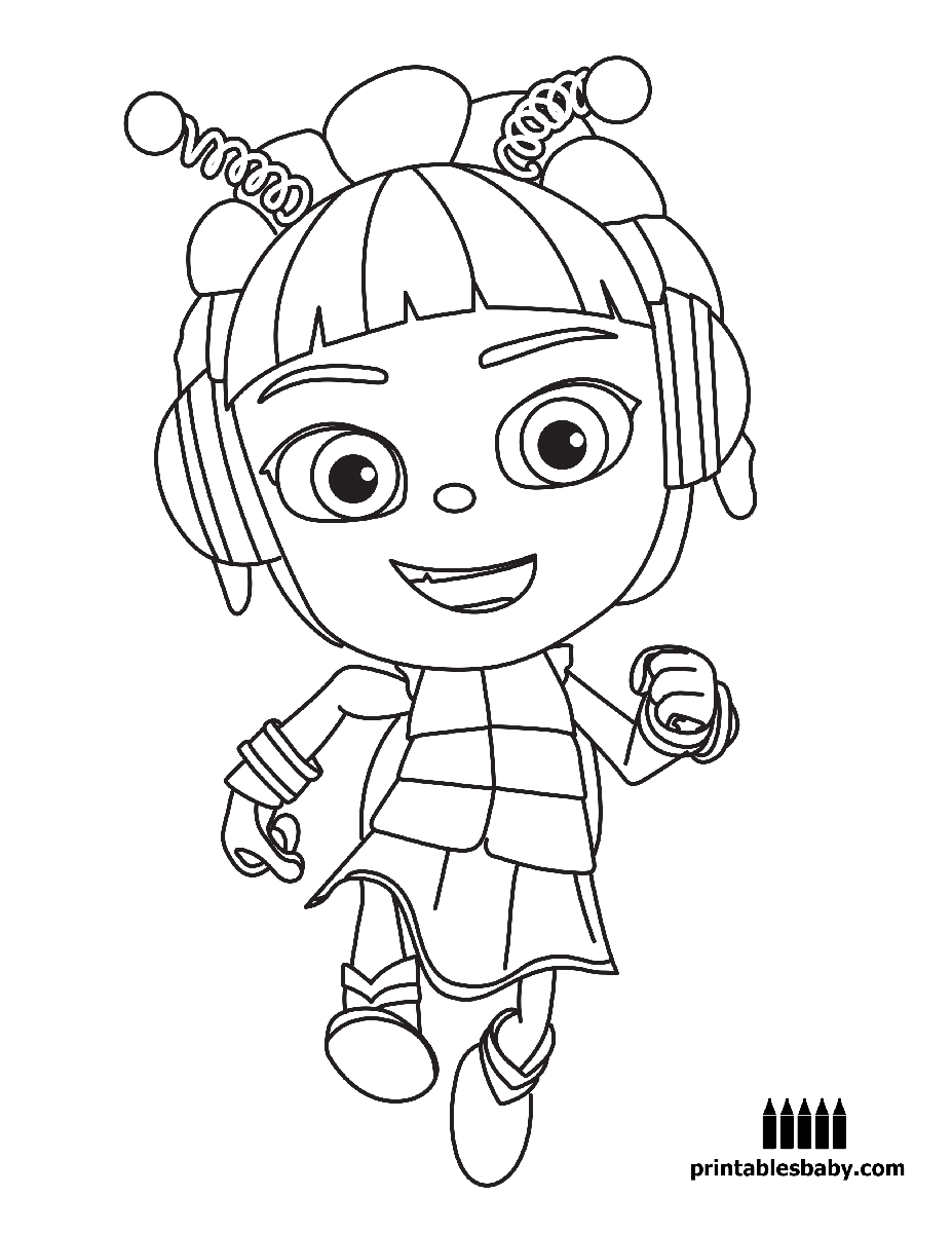 beat bugs printables baby free cartoon coloring pages free