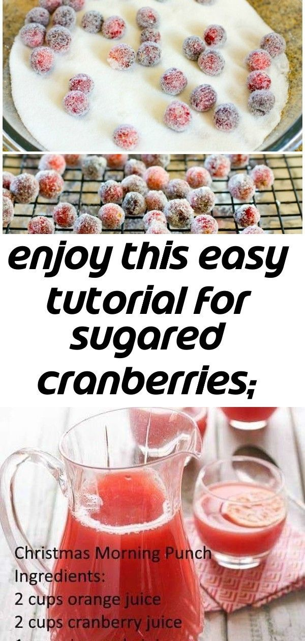 Enjoy this easy tutorial for sugared cranberries; they're the perfect holiday party snack. add the 2 #christmasmorningpunch Enjoy this easy tutorial for sugared cranberries; they're the perfect holiday party snack. Add them to holiday cookies and cakes for some extra bling! | Holiday Recipe | Christmas Recipe | Cranberry Recipe Christmas Morning Punch ⛄️? This cheery and heartwarming wall art stencil is perfectly sized for craft, fabric and furniture DIY stencil projects for seasonal Christm #christmasmorningpunch