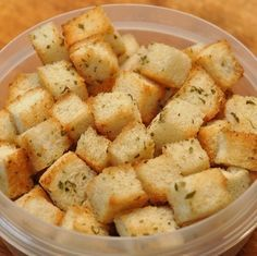 Homemade Croutons .... sooo much better than bought in a box ones !