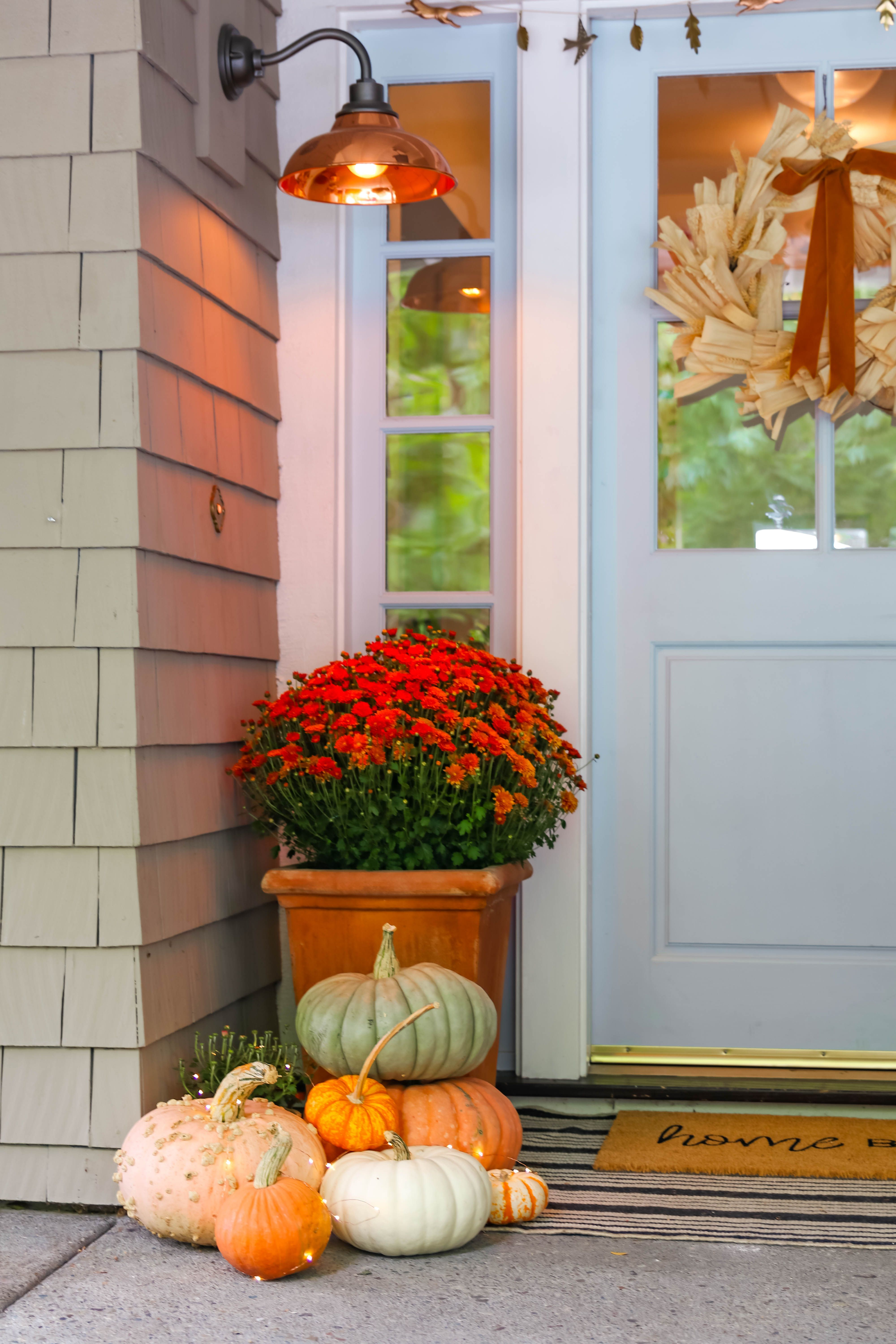 How To Create A Beautiful Fall Porch Fall Outdoor Decor Fall Porch Fall Front Porch Decor