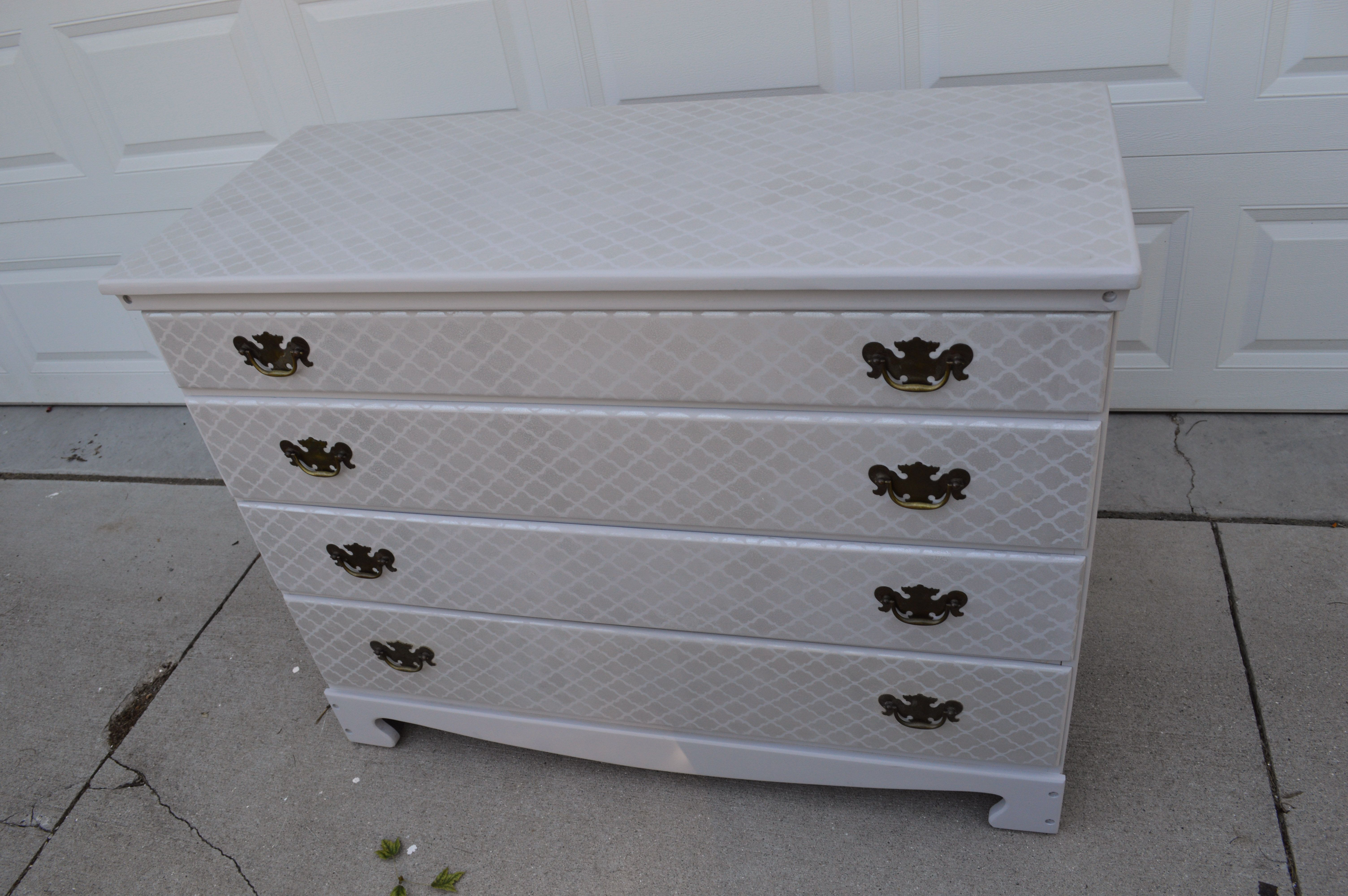 Diy stenciled painted changing table tutorial i turned this beat