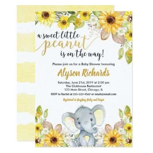 Yellow elephant gender neutral floral baby shower invitation | Zazzle.com -   - #Baby #BabyShowerscookies #BabyShowerselefantes #BabyShowersguestbook #BabyShowersmanualidades #elephant #Floral #floralBabyShowers #Gender #Invitation #Neutral #shower #twinkletwinklelittlestarBabyShowers #Yellow #Zazzlecom