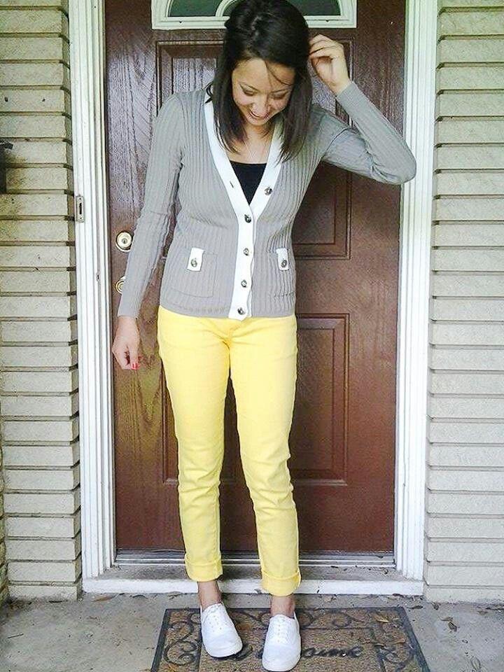 vans pants mens yellow