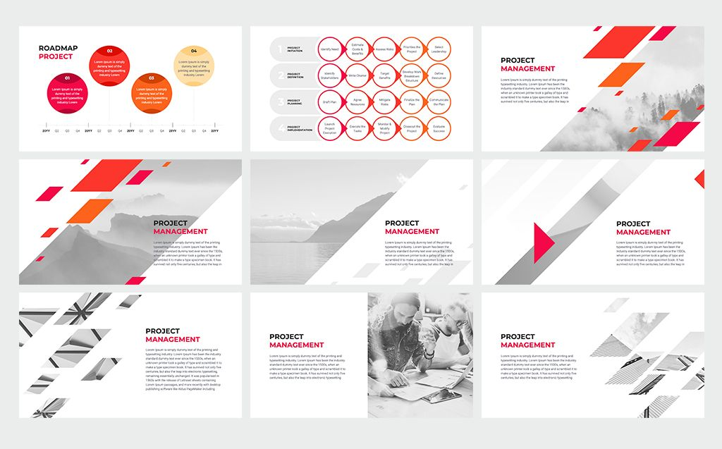 Project Management Google Slides 80166 With Images Project Management Templates Keynote Template Powerpoint Templates