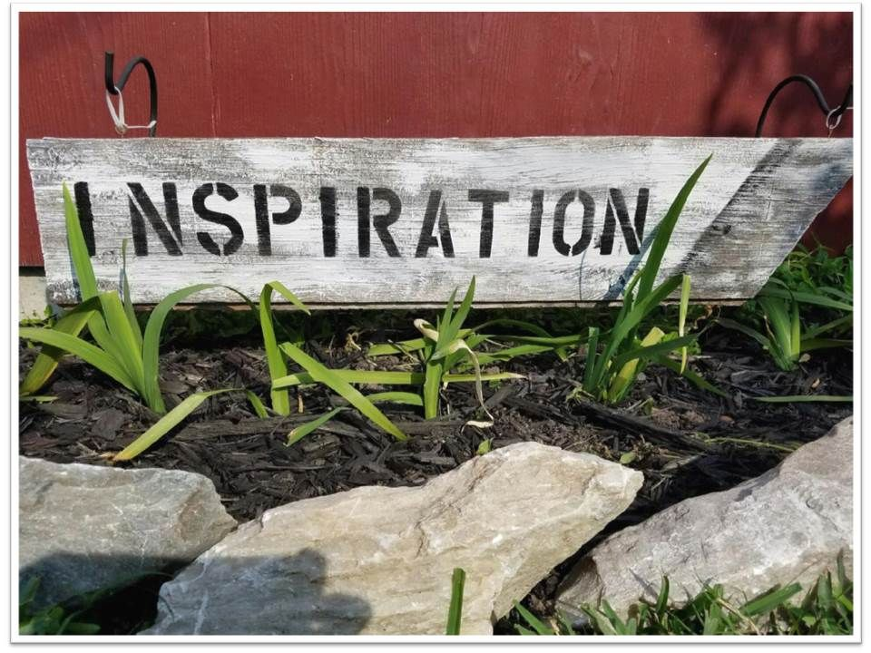 """I added """"How to DIY a wooden sign with chalk paint for your"""" to an #inlinkz linkup!http://ladyandthehouse.com/how-to-diy-a-wooden-sign-with-chalk-paint-for-your-garden/"""