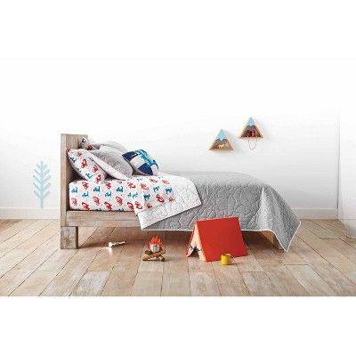 Full/Queen Jersey Quilt Gray - Pillowfort™