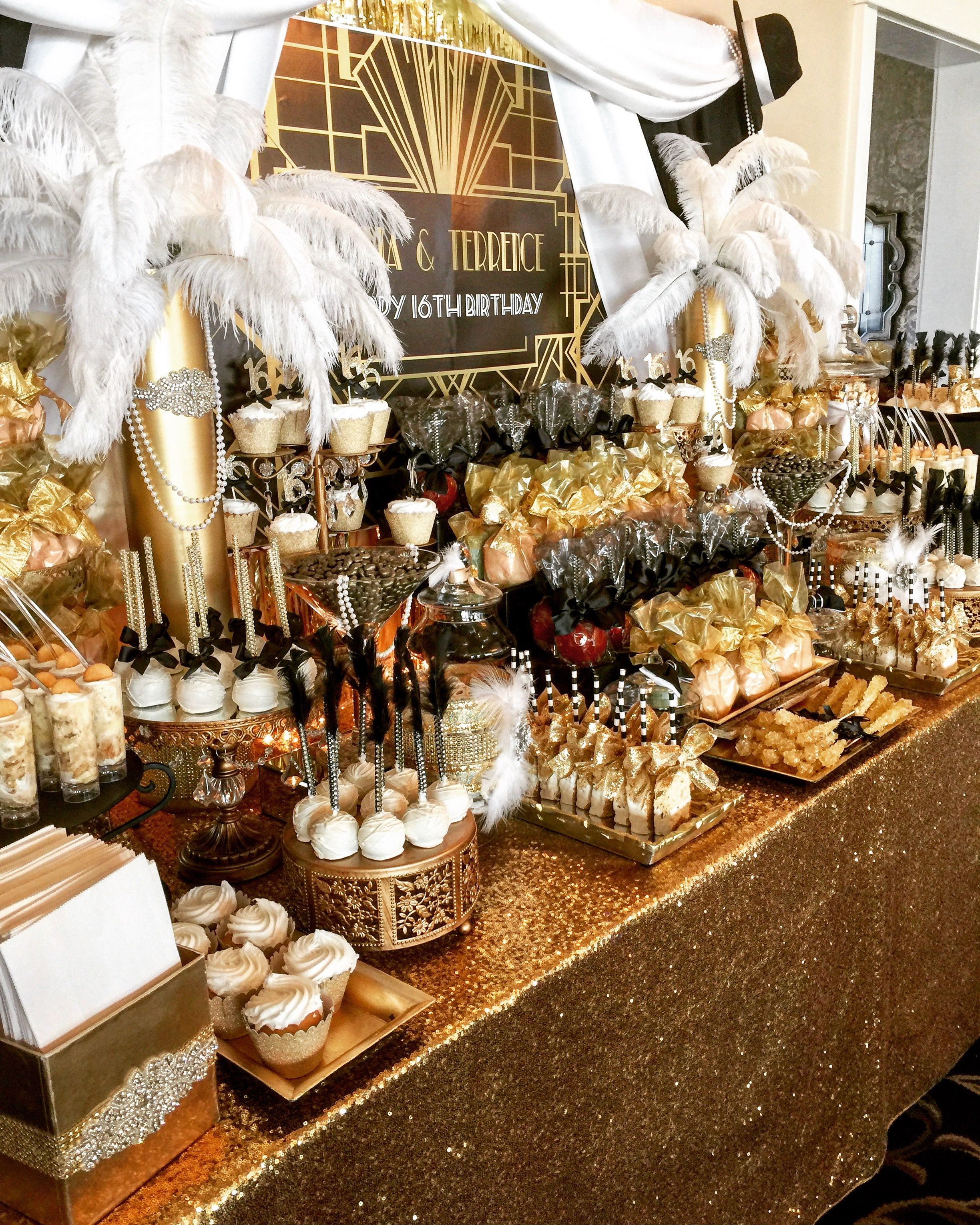 Great Gatsby Candy Buffet, perfect for your 1920s party!