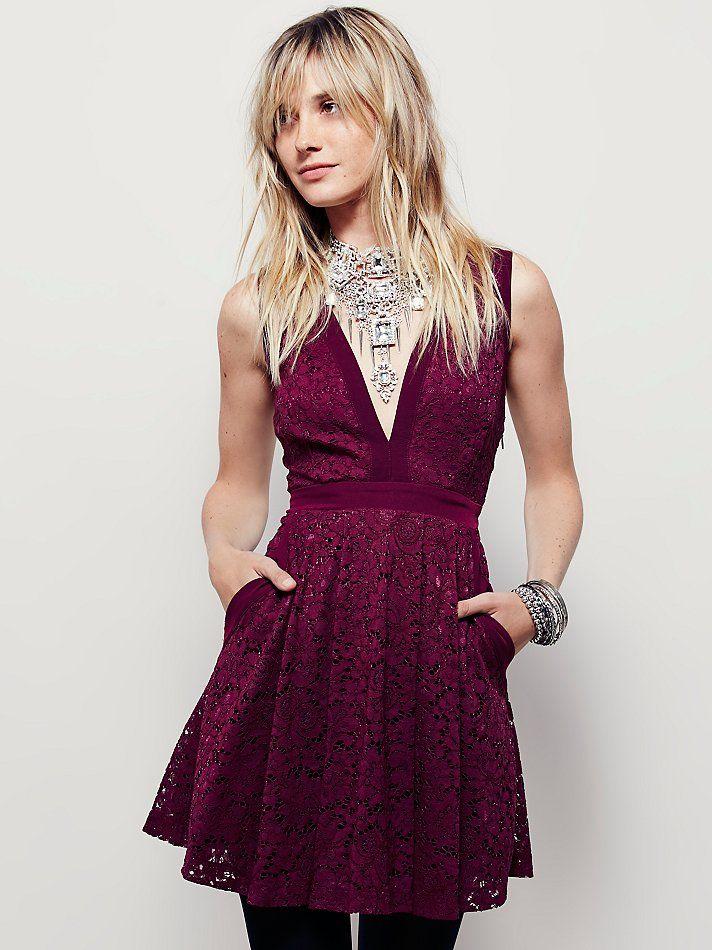 Lovely In Love Mini Dress Super Feminine Floral Lace