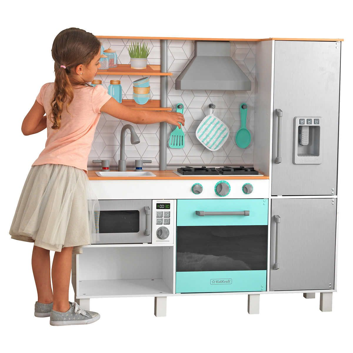 Costco gourmet kitchen play set cute baby kid finds play