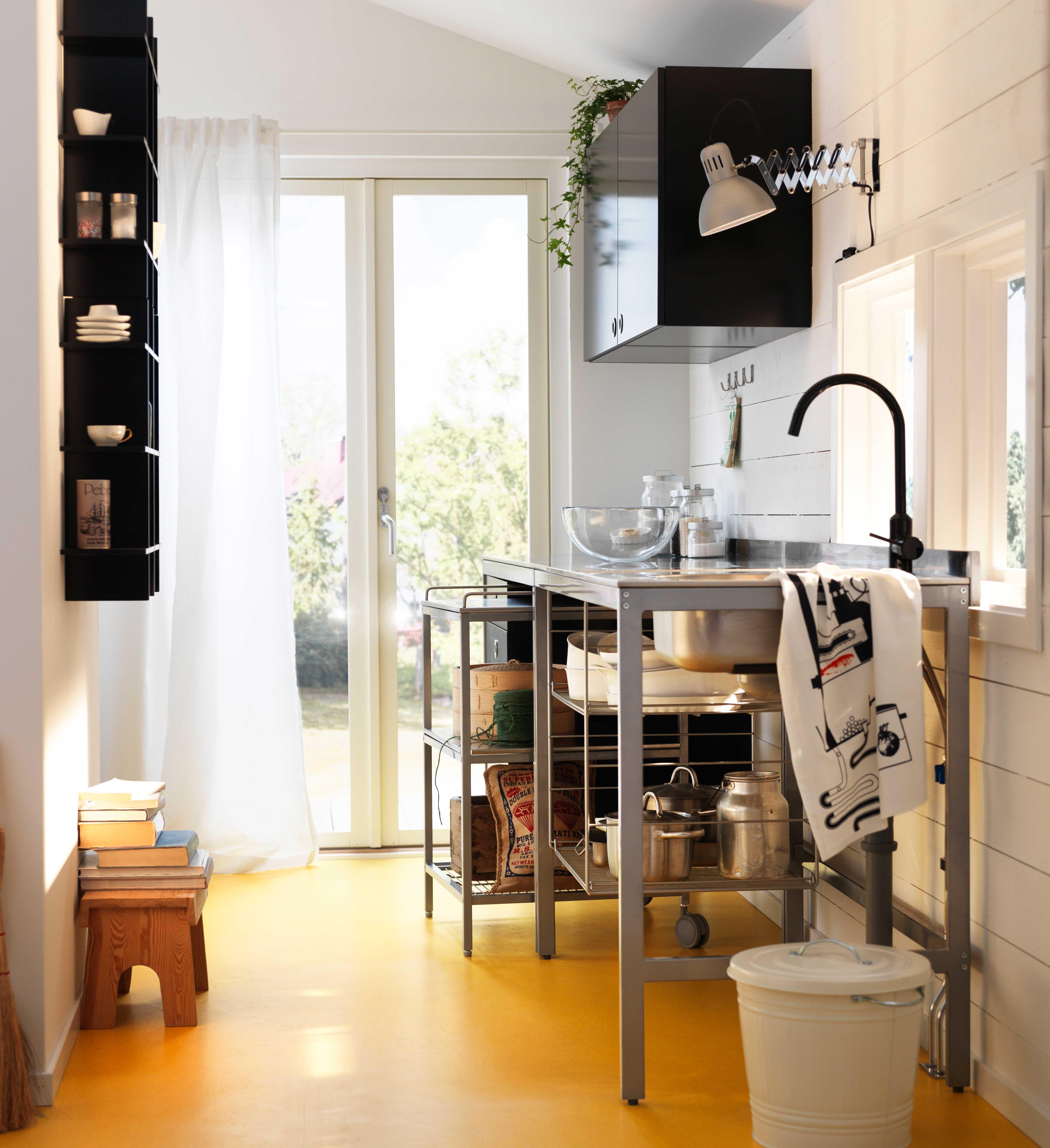 Hochwertig IKEA Österreich, Inspiration, Küche, Spülentisch UDDEN, Mischbatterie  RINGSKÄR, Servierwagen UDDEN,