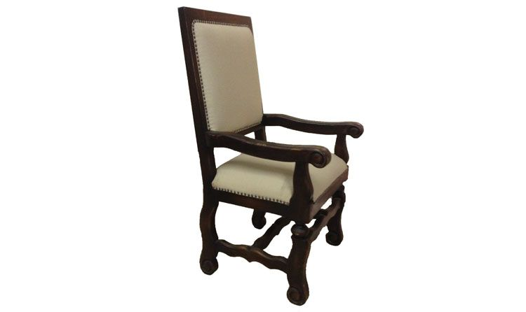 This chair showcases high quality intricate designs and materials and was custom made in Peru. See more environment friendly furniture pieces and accessories at a local Houston showroom!