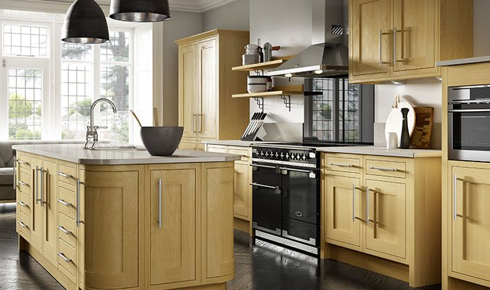 Choose freestanding furniture paired with stainless steel for Wickes kitchen cabinets