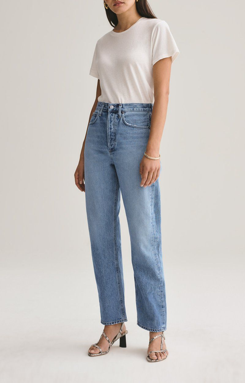 90s mid rise loose fit in snapshot womens straight