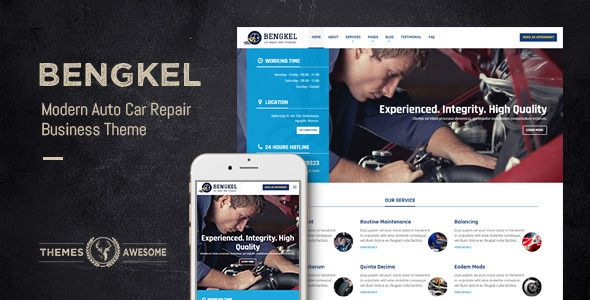 Bengkel - Modern Auto Car Repair Business Theme (Business) - http://creativewordpresstheme.com/bengkel-modern-auto-car-repair-business-theme-business/