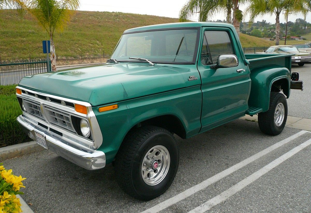 1977 Ford F100 Green Stepside Had One Pickup Pinterest 1970