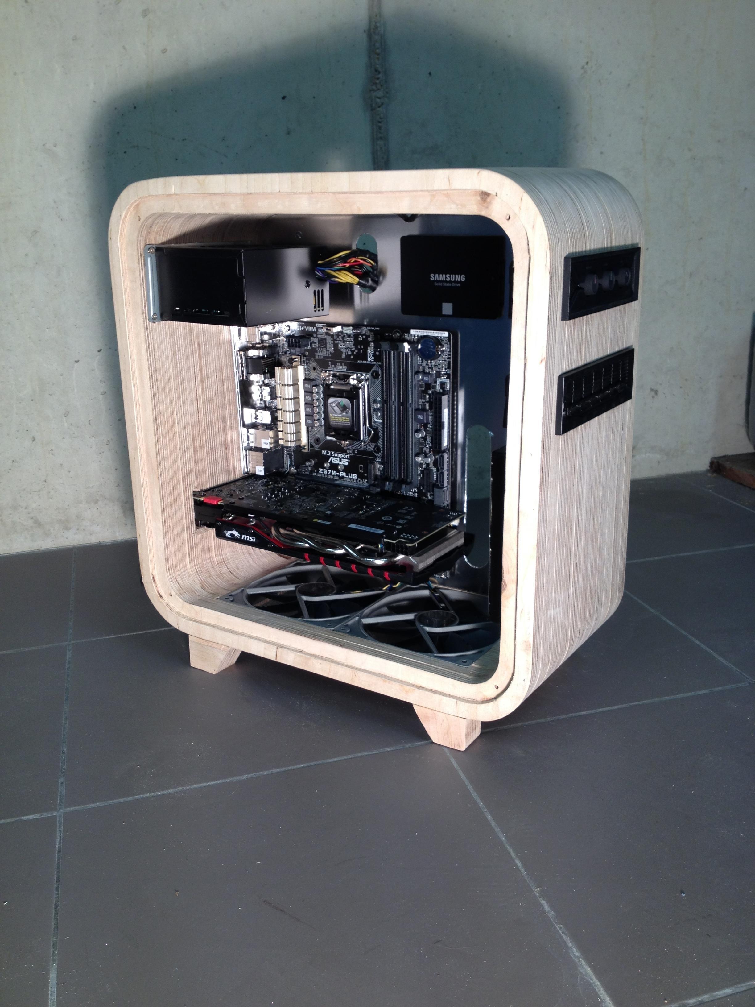 Ditch the Aluminum for an Elegant Wooden Computer Enclosure ...