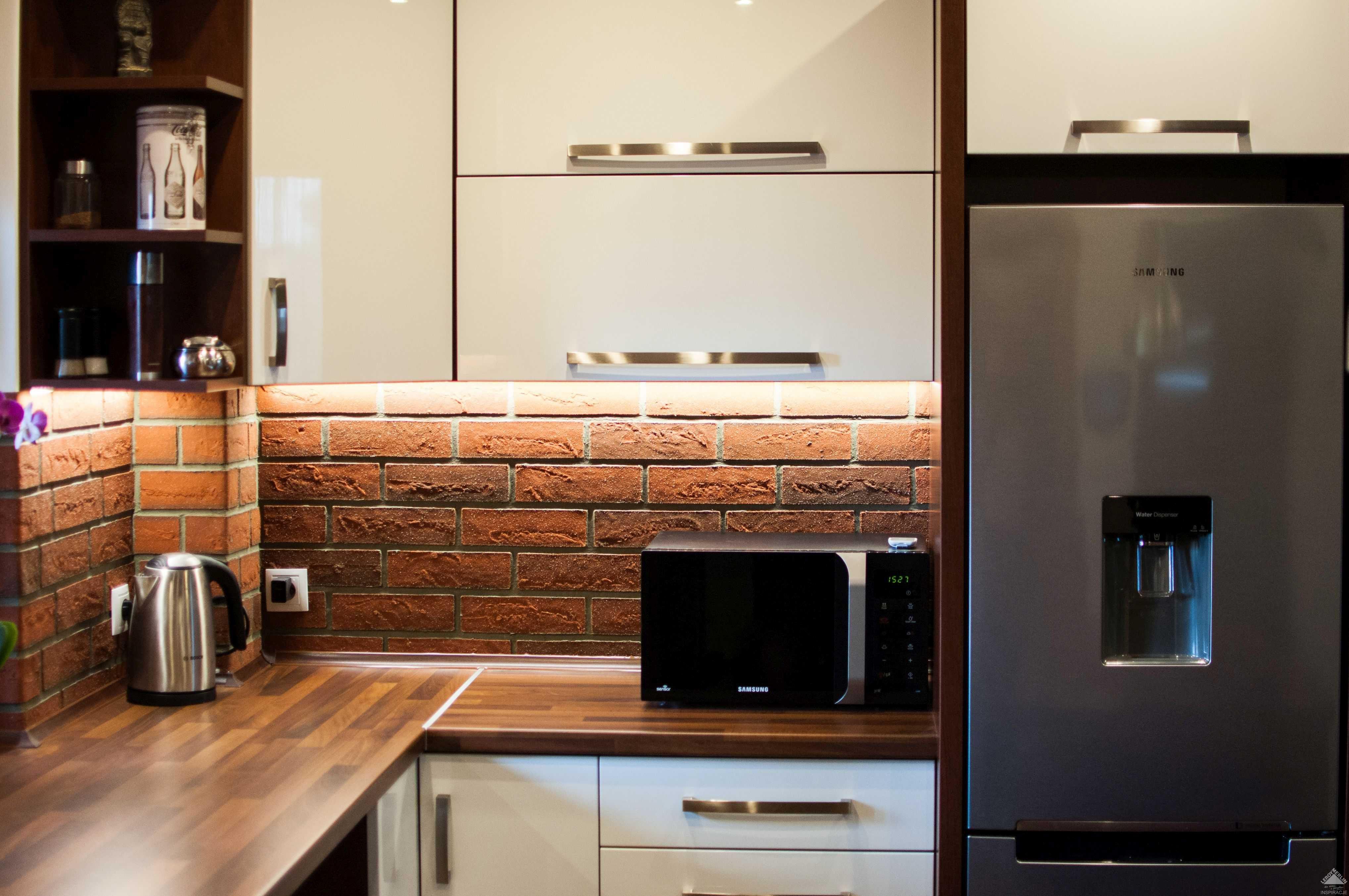 Otwarta kuchnia w bieli hola design homesquare - Kuchnia Z Ceg