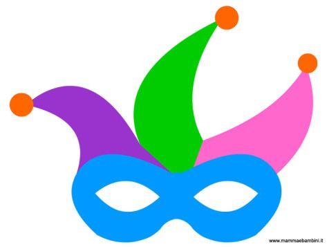 Maschera giullare da stampare per carnevale in festa for Giullare da colorare