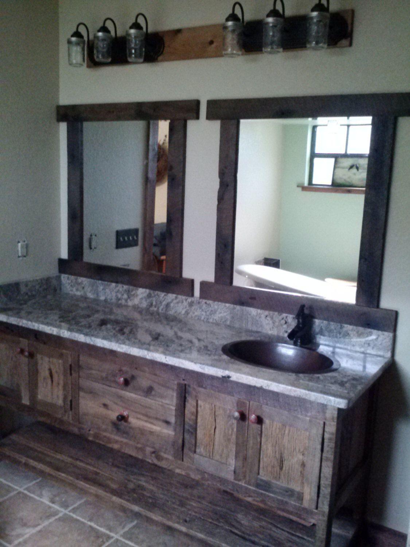 Prim Antique Wood Bathroom Sink/ Vanity And Counter Top