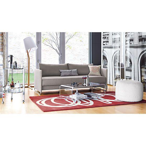 Perfect Tandom Grey Sleeper Sofa   Grey   CB2