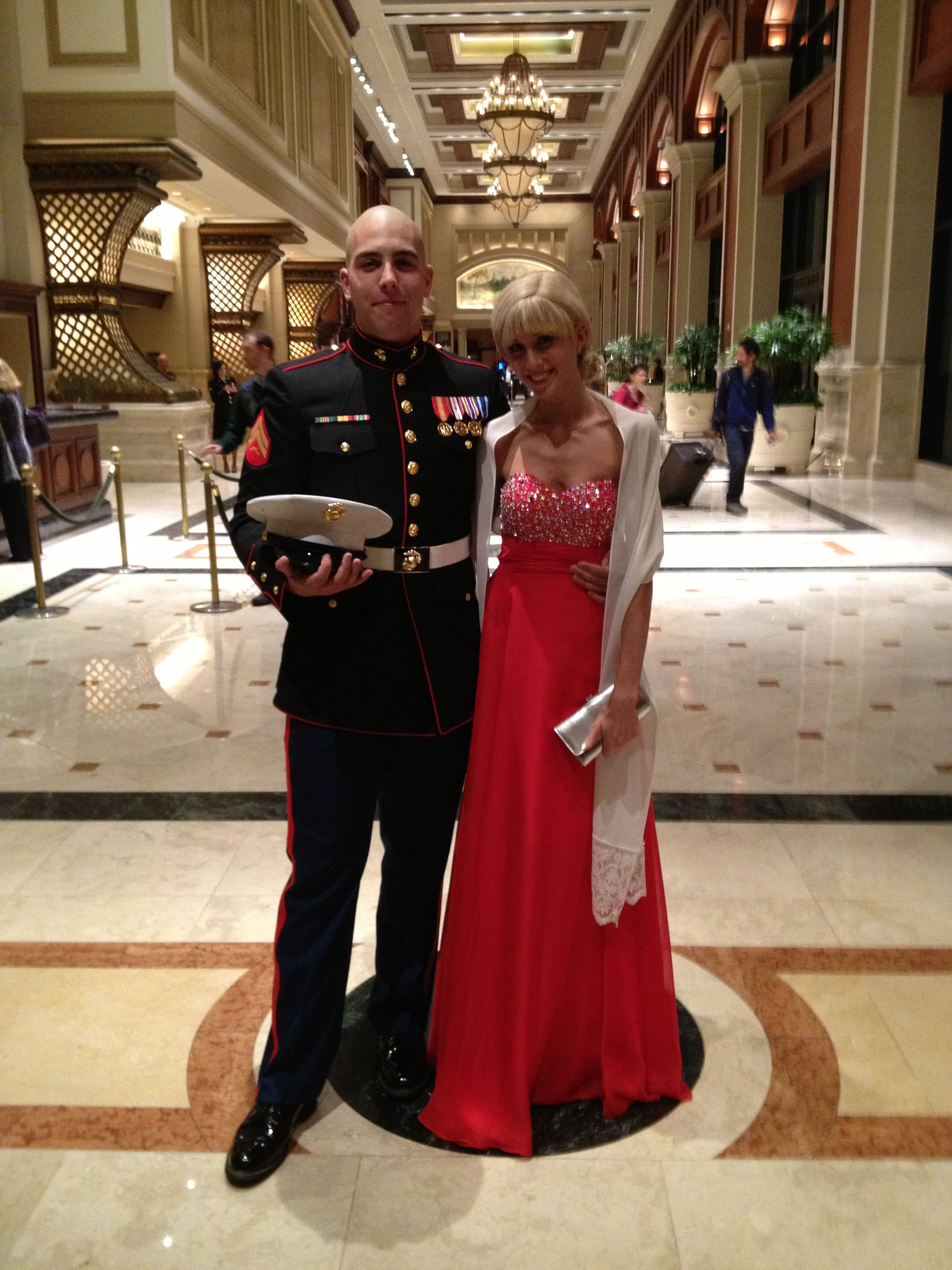 The end product:) USMC 2012 Marine Corps ball in San Diego. Red ...