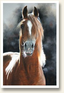 """""""Red"""" stunning horse painting Lesley Harrison"""