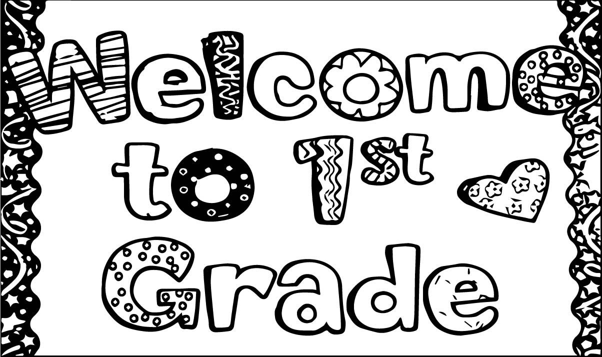 - Cool Welcome To 1st Grade School Coloring Page School Coloring